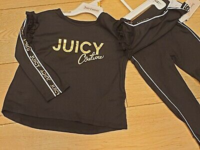 Juicy Couture Girls Tracksuit 3 Years Genuine Juicy Two Piece Set
