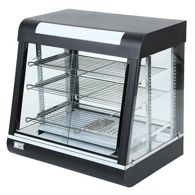 Used Commercial Food Warmer Cabinet Pizza Pie Display Showcase Tempered Glass