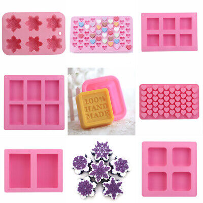 Silicone Handmade Soap Mould Ice Cube Cake Chocolate Pudding Mold Baking Tool*AU