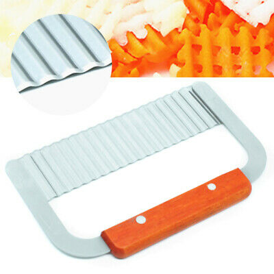 Stainless Steel Wavy Straight Soap Mold Loaf Wax Cake Potato Cutter Tools Kit*AU