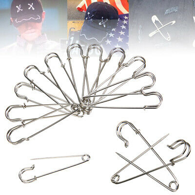 12x Stainless Steel Large Heavy Duty Pin Sets Safety Pin Blanket Crafting 7cm AU