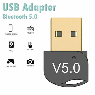 USB Bluetooth 5.0 Adapter Wireless Receiver for Windows PC Laptop Win10 8 HOT