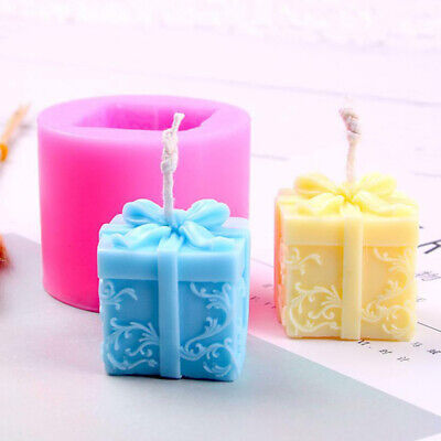 Silicone Candle Mold DIY Festival Party Christmas Soap Plastic Candle Mould*AU