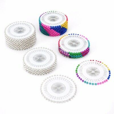 AU*Pearl Head Wedding Craft Dress Making Patchwork Straight Sewing Needle Pins