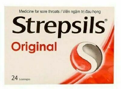 Strepsils Original 24 Antiseptic Lozenges tablets Free Shiping