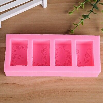 Flower Silicone Mold Soap Candle Mould Concrete Cake Candy Baking Molds DIY AU