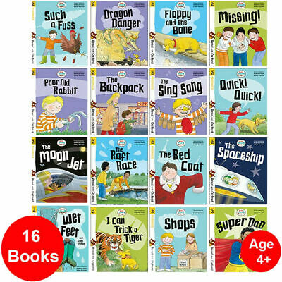 Biff, Chip and Kipper Stage 2 Read with Oxford: 4+: 16 Books Collection Set NEW