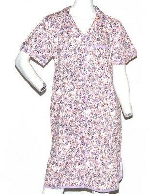 Gold Coast Women's Classic Nightgown in Lavender Floral - 2XL