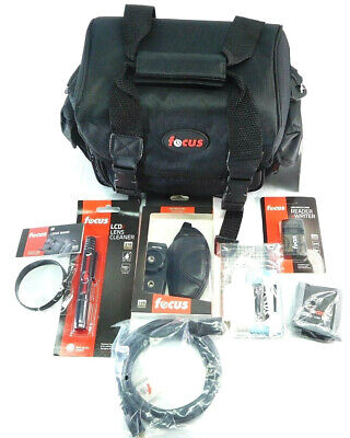 Focus Deluxe Professional SLR Camera Accessory Kit with Bag & Mini HDMI Cables