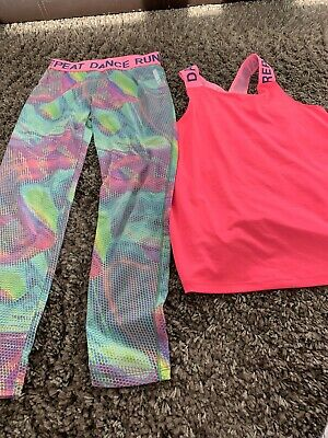 Girls Dance/ Gym Wear, from Next, Leggings Age 10, Top Age 11, L SleeveTop 10-11