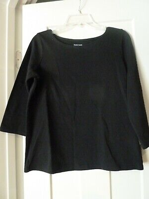 Women's Eileen Fisher Top Size large Ink Black EUC Classic Top
