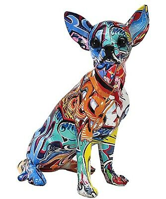 Graffiti Art bright colour Chihuahua ornament 24cm Tall