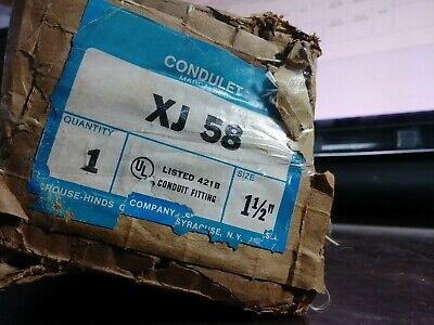 """Crouse Hinds Xj 58 Xj58 Condulet 1-1/2"""" Expansion Joint New In Box"""
