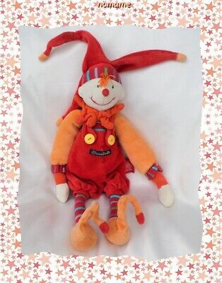 DOUDOU LUTIN PLAT ROUGE ORANGE  DRAGOBERT MOULIN ROTY 13
