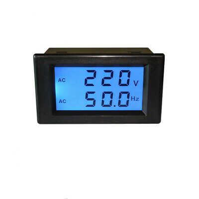 Frequency Meter Digital Voltmeter LCD Display AC 80-300V For Industrial Control