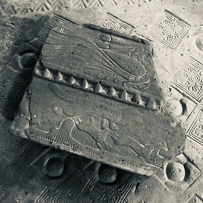 Ancient Chinese Tomb Brick with Tiger Relief,Han Dynasty  15×13×4cm  2200 years