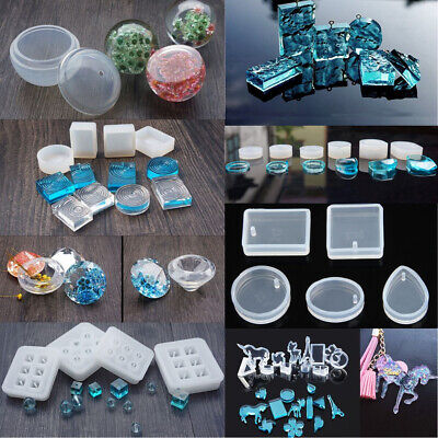 Silicone Mould Gem Beads Making Resin Necklace Pendant Jewelry Mold DIY Craft*AU