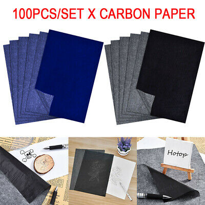 100 Sheets A4 Carbon Paper Hand Copy Duplicate for Typewriter Stencil  Transfer
