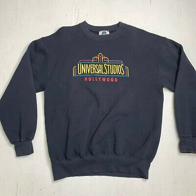 Vintage 90s Universal Studios Hollywood Pullover Sweater Adult Sz L Made in USA