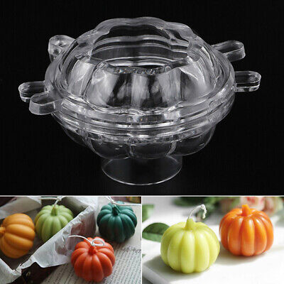 NEW 3D Pumpkin Shaped Candle Making Mould Soap Mold DIY Halloween Craft Tools AU