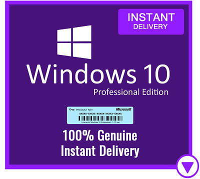 Windows 10 Professional Pro 32/64 Bit License Activation Key Code - Instant 24/7