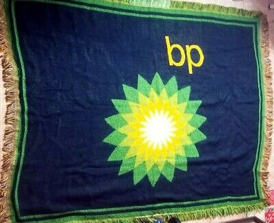 Rare Bp Gas Oil Blanket Throw Tapestry