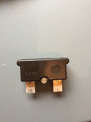 Wylex 60 Amp Cartridge Fuse Carrier With 45 amp Fuse Inside. Rare Vintage Fuses