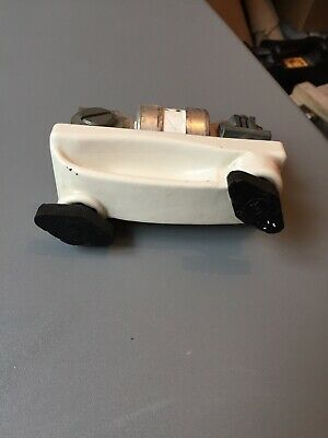 Lucy Vintage Ceramic Cartridge Fuse Carrier With Bussmann 315a Fuse.