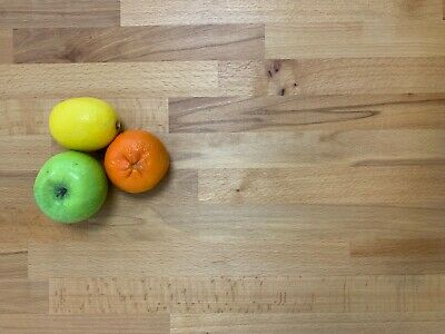 SOLID BEECH WOOD WORKTOP 1.5m / 3m x 620mm x 27mm  TOP QUALITY WOOD! Best Value!