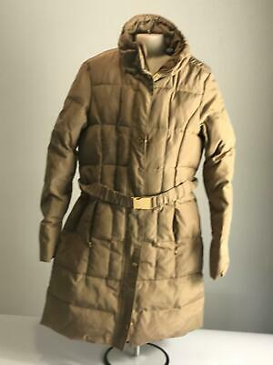 Girls Zara Kids Beige Quilted Warm Winter Belted Coat Jacket Kids Age 11-12 Yrs