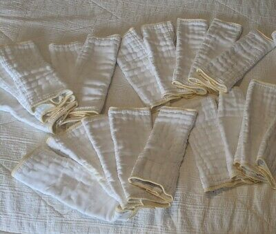 Lot- 19 Green Mountain Diapers Cloth-eez Small Prefolds