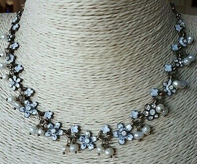29cm L// Black Velour Choker Necklace with Double Pearl Bead 15mm// 10mm Pendant