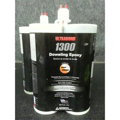 Lot of 2 Adhesives Technology Ultrabond 1300 Doweling Epoxy 53 oz/Cartridge
