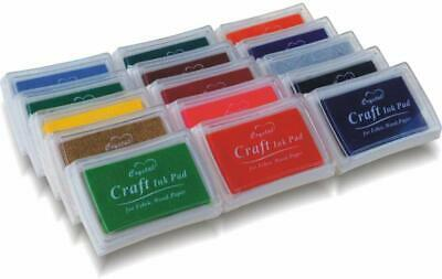 PMLAND Stamp Ink Pads for Craft, Stamp on Paper, Wood or Fabric, 15 Colors
