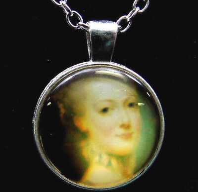 Womens Necklace Portrait Of Elegant Victorian Style Lady Pendant Jewelry Cameo