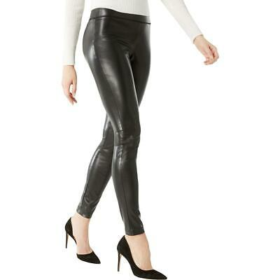 INC Womens Black Faux Leather A Night Out Skinny Pants 10 BHFO 1642