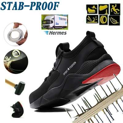 Mens Work Boots Lightweight Trainers Safety Shoes Toe Steel Hiking Ankle Cap INS