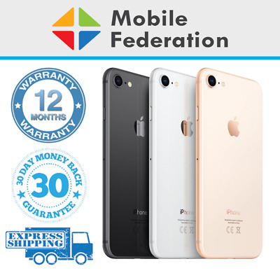 Apple iPhone 8 Touch ID/Home Button Imperfect 64GB 256GB A1863 Unlocked