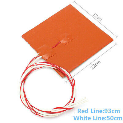 New Silicone Heater Pad 3D Printer Heated Bed Heating Mat Home Room Tool Daily