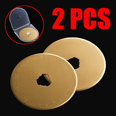 NEW 2Pack Durable Titanium Coated Rotary Cutter Blades Sewing Arts Crafts 45mm