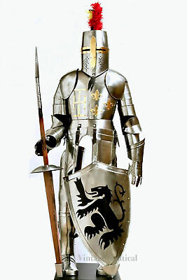 Medieval Knight Suit Of Full Body Armour Steel Templar Combat Armor X-MAS LARP