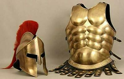 300 Spartan Muscle Jacket Armor Medieval With Helmet King Roman For Gift