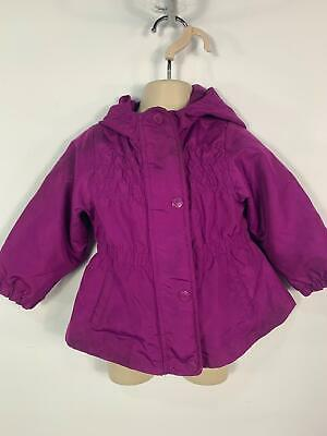 Girls Carter's Purple Light Weight Hood Rain Coat Jacket Kids Age 12 Months