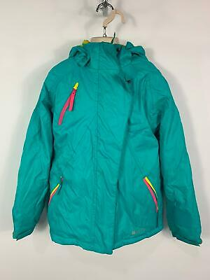 Girls Mountain Warehouse Green Winter Padded Snow Hood Raincoat Kids Age 11 Yrs