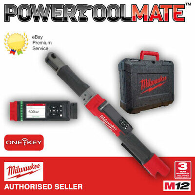 Milwaukee M12ONEFTR38-0C 12V 3/8in ONEKEY Impact Torque Ratchet Bare Unit In Cas