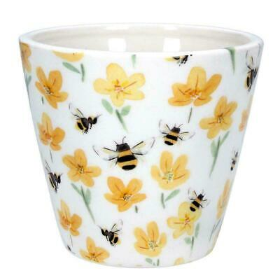 Buttercup Bee Ceramic Plant Pot Cover by Gisela Graham - Spring Easter