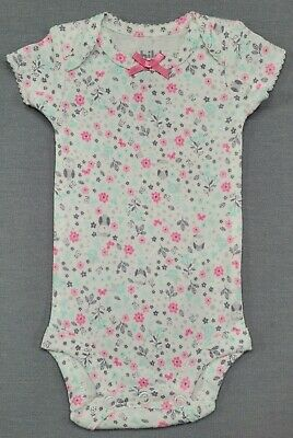 Baby Girl Clothes Nwot Child Mine Carter's Preemie Pink Gray Floral Owl Bodysuit