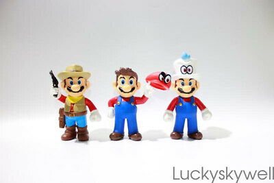 NEW Super Mario Bros. Odyssey Mario Cappy Hat Action Figure Toy Doll Gift 5''