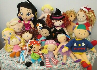 Huge Lot of Adorable Cloth Dolls, for Play, Collection, Groovy Girls, Disney,