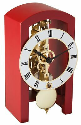 Hermle -boston 18cm Red 23015-360721 High Quality Analog Table Clock With Keys